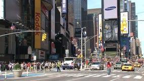 Times Square con el firetruck, New York City metrajes