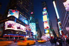 Times Square crowded Stock Photos