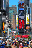 Times Square Crowds Royalty Free Stock Image