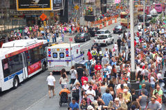 New York City Crowd Stock Photo