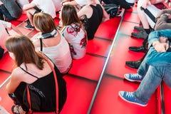 Times Square Czerwoni kroki, kultura młodzieżowa i turystyk pojęcia, Fotografia Royalty Free