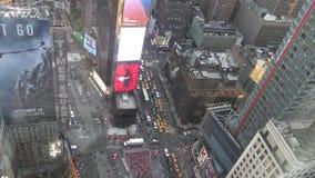 Times Square d'en haut banque de vidéos