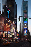Times Square at dawn Stock Photo