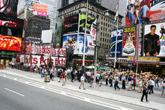 Times Square. A daytime photo of Times Square taken in August, 2005 royalty free stock photos