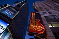 Times Square de hard rock Photo stock
