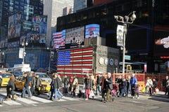 TIMES SQUARE DE NYC Imagen de archivo libre de regalías