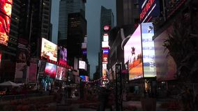 Times Square, de Stad van Manhattan, New York stock video