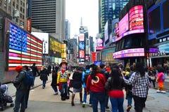 Times Square in de Stad van New York, NY de V.S. Stock Afbeeldingen