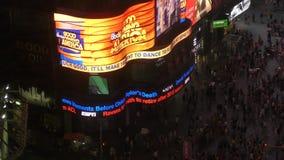 Times Square de studio d'ABC banque de vidéos