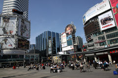 Times Square de Toronto Fotografia de Stock