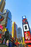 Times Square in 7de Weg en Broadway Stock Afbeelding