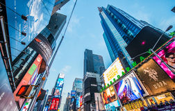 Times Square on December 22 in USA Stock Photography