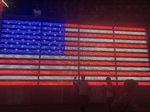Times Square della bandiera americana immagine stock