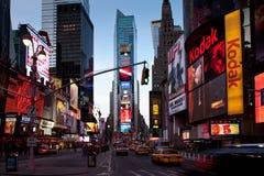 Times Square an der Dämmerung stockfoto