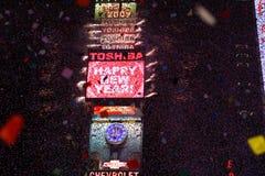 Times Square di nuovo anno felice Immagini Stock Libere da Diritti