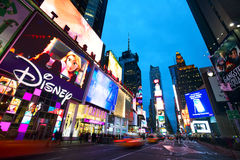Times Square at dusk royalty free stock photos