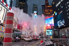 Times Square dymu drymba Zdjęcia Royalty Free