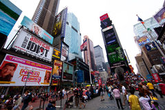 Times Square em Manhattan Fotos de Stock