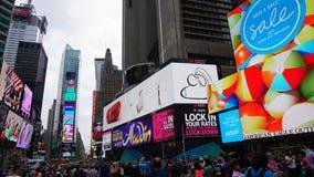 Times Square em Manhattan, New York Imagens de Stock