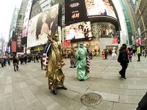 Times Square entertainers Royalty Free Stock Images