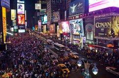 Times Square entro la notte Immagine Stock Libera da Diritti