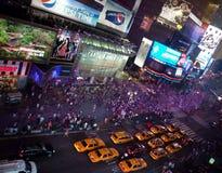 Times Square entro la notte Fotografia Stock Libera da Diritti