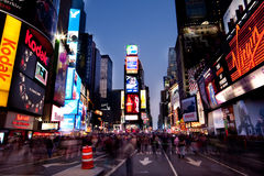 Times Square entro Night Immagine Stock
