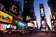 Times Square entro Night Fotografia Stock