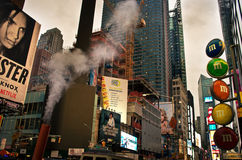Times Square at evening, New York City. USA. Royalty Free Stock Image