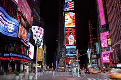Times Square, featured with Broadway Theaters and animated LED signs, New York City, USA Stock Photography