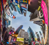 Times Square, featured with Broadway Theaters and huge number of Royalty Free Stock Photo