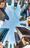 Times Square, featured with Broadway Theaters and huge number of Stock Image