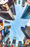 Times Square, featured with Broadway Theaters and huge number of Royalty Free Stock Image