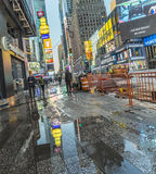 Times Square, featured with Broadway Theaters and huge number of Royalty Free Stock Photography