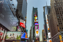 Times Square, featured with Broadway Theaters and huge number of Stock Images