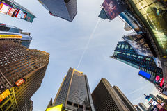 Times Square, featured with Broadway Theaters and huge number of Royalty Free Stock Photos