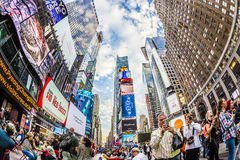 Times Square, featured with Broadway Theaters and huge number of Royalty Free Stock Images