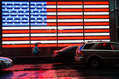 Times Square Flag Royalty Free Stock Photography