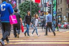 Times Square Hong Kong Fotografia Royalty Free