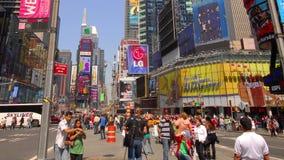 Times Square i New York City lager videofilmer