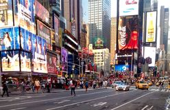 Times Square i NYC, USA Royaltyfria Foton