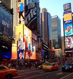 Times Square i NYC, USA Royaltyfria Bilder