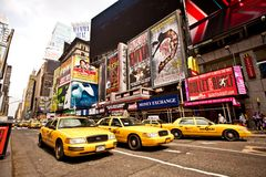 Times Square is an iconicplace of New York City an Royalty Free Stock Photos