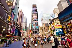 Times Square is an iconicplace of New York City an Stock Photo