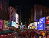 Times Square II. A panorama picture of Times Square stock photo