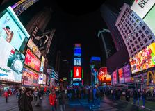 Times Square III. A panorama picture of Times Square royalty free stock image