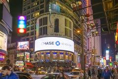 Times Square iluminował billboard Obrazy Stock