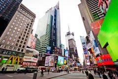 Times Square im Morgen Lizenzfreie Stockbilder