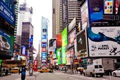 Times Square im Morgen Stockfotos