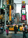 Intersezione New York del Times Square Fotografia Stock